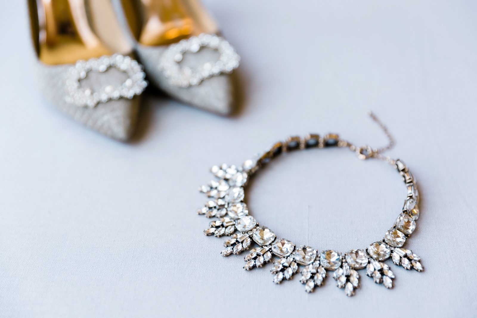 Bridal shoes and jewelry: Sophisticated and Chic wedding inspiration on Alexa Kay Events