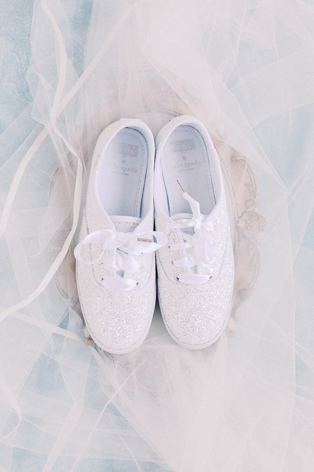 Kate Spade Keds Wedding Shoes: | Romantic blue Texas wedding at Spring Venue by Alexa Kay Events