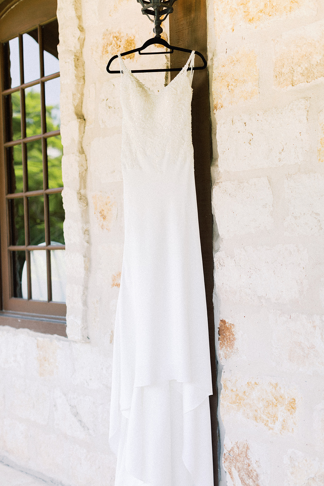 Wedding dress portrait: | Romantic blue Texas wedding at Spring Venue by Alexa Kay Events