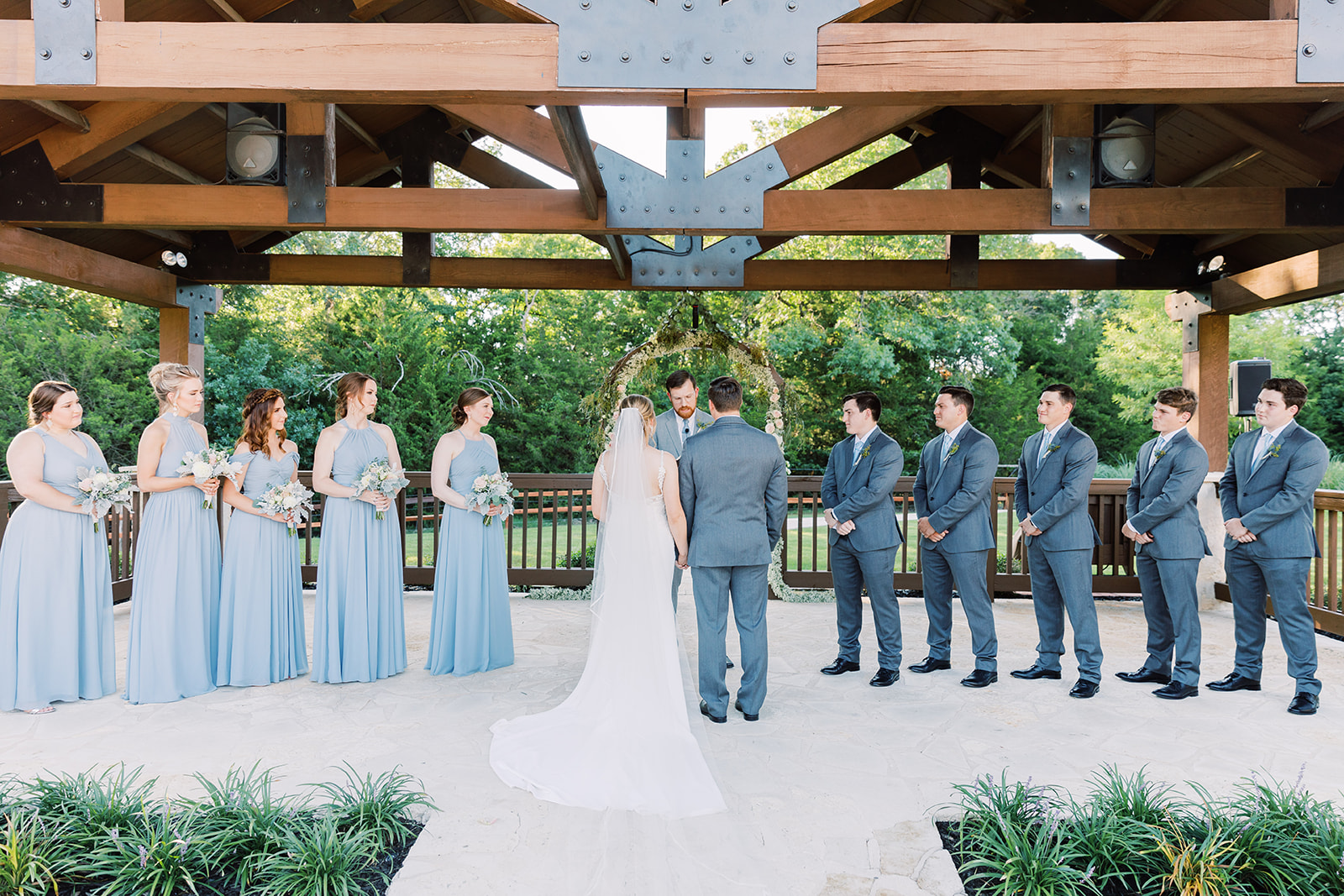 Springs Venue Wedding Texas: | Romantic blue Texas wedding at Spring Venue by Alexa Kay Events
