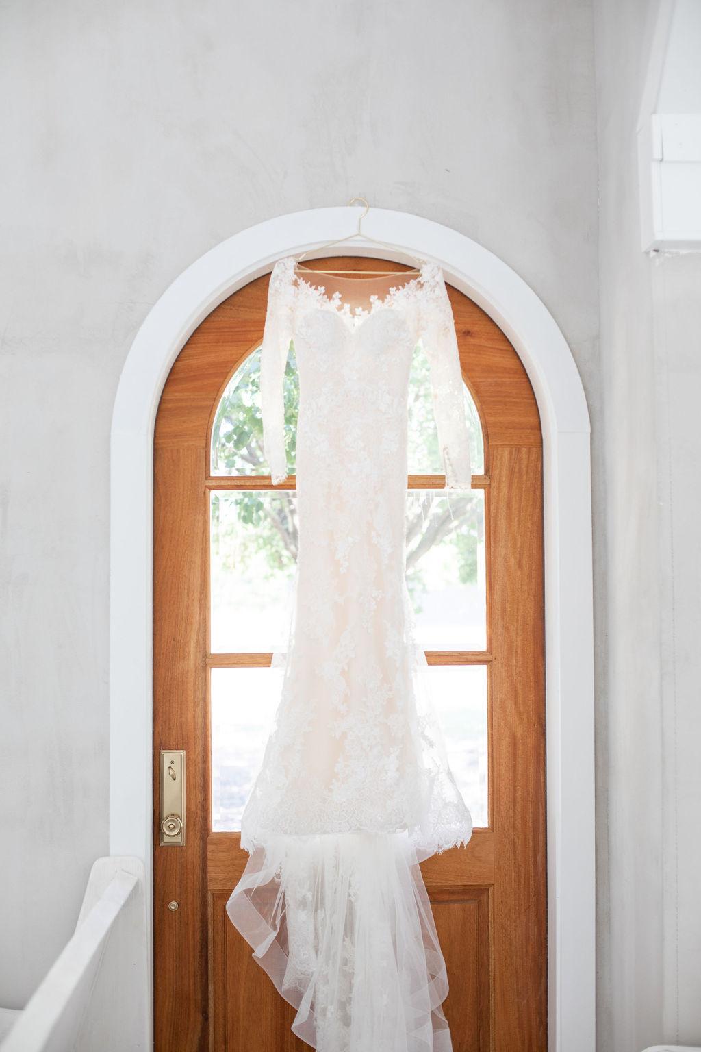 Lace wedding dress: Modern Minimalistic Wedding at The Emerson