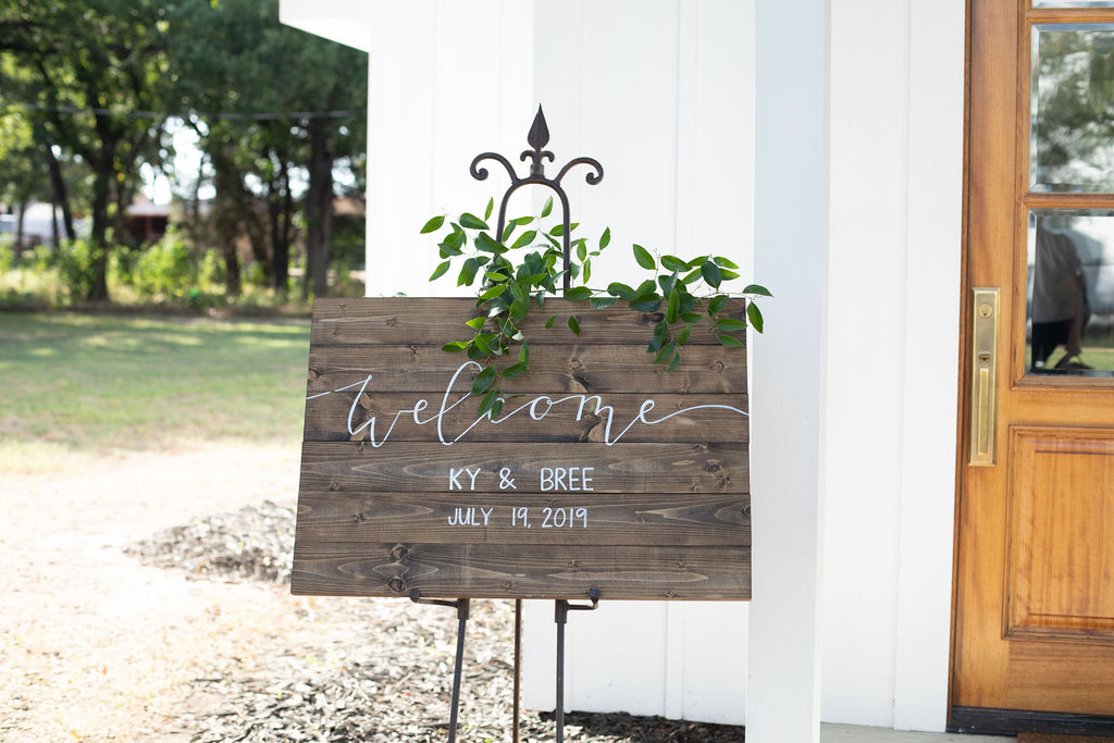 Wood wedding welcome sign: Modern Minimalistic Wedding at The Emerson