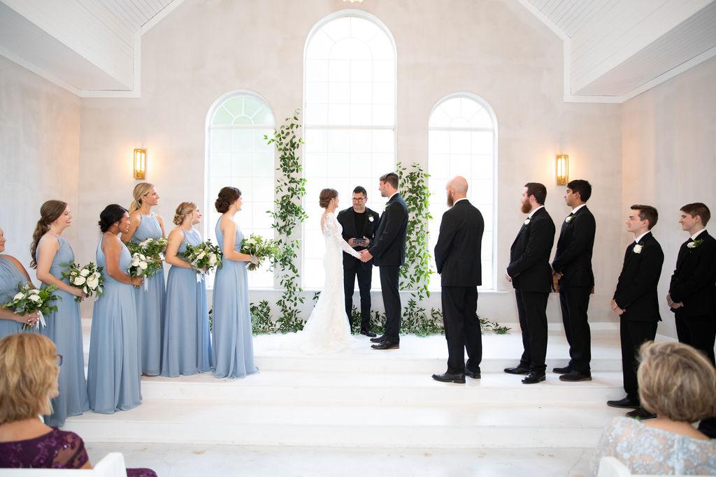 Wedding ceremony photos: Modern Minimalistic Wedding at The Emerson