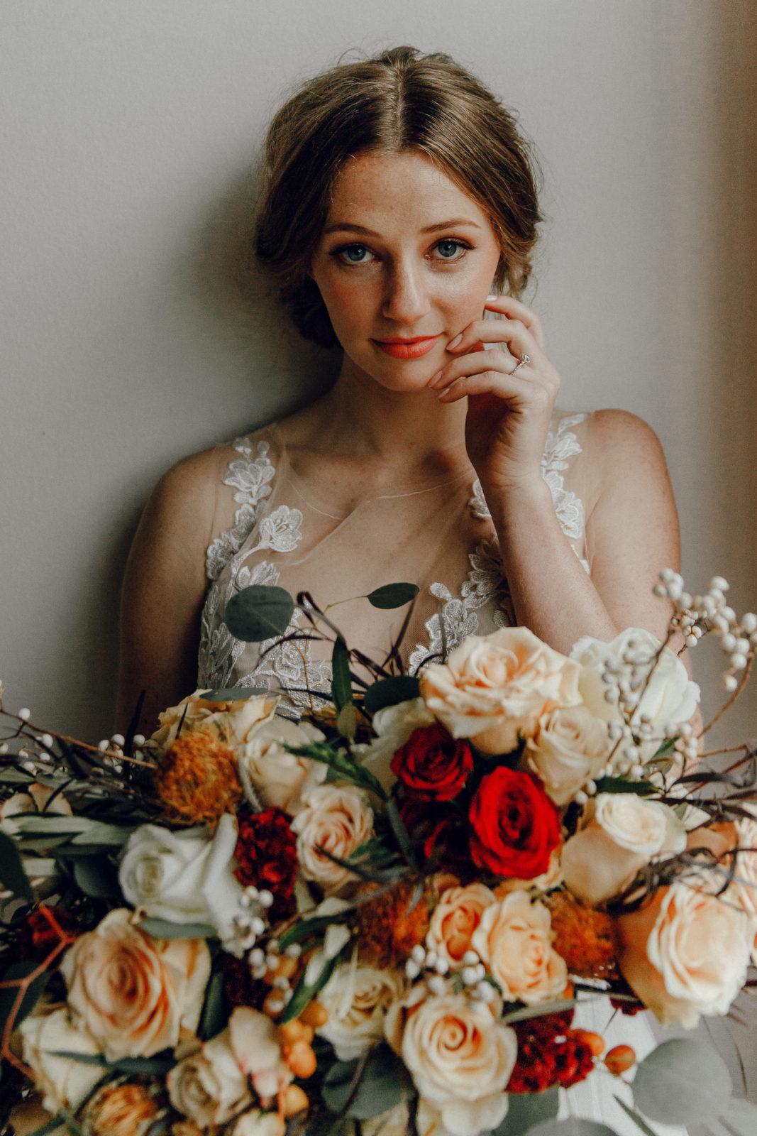 Orange wedding bouquet: Orange Wedding Inspiration on Alexa Kay Events