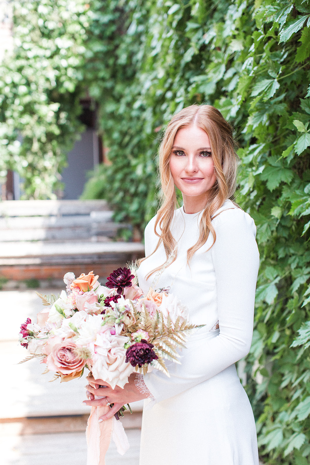 Bridal portrait: Fall Garden Wedding featured on Alexa Kay Events
