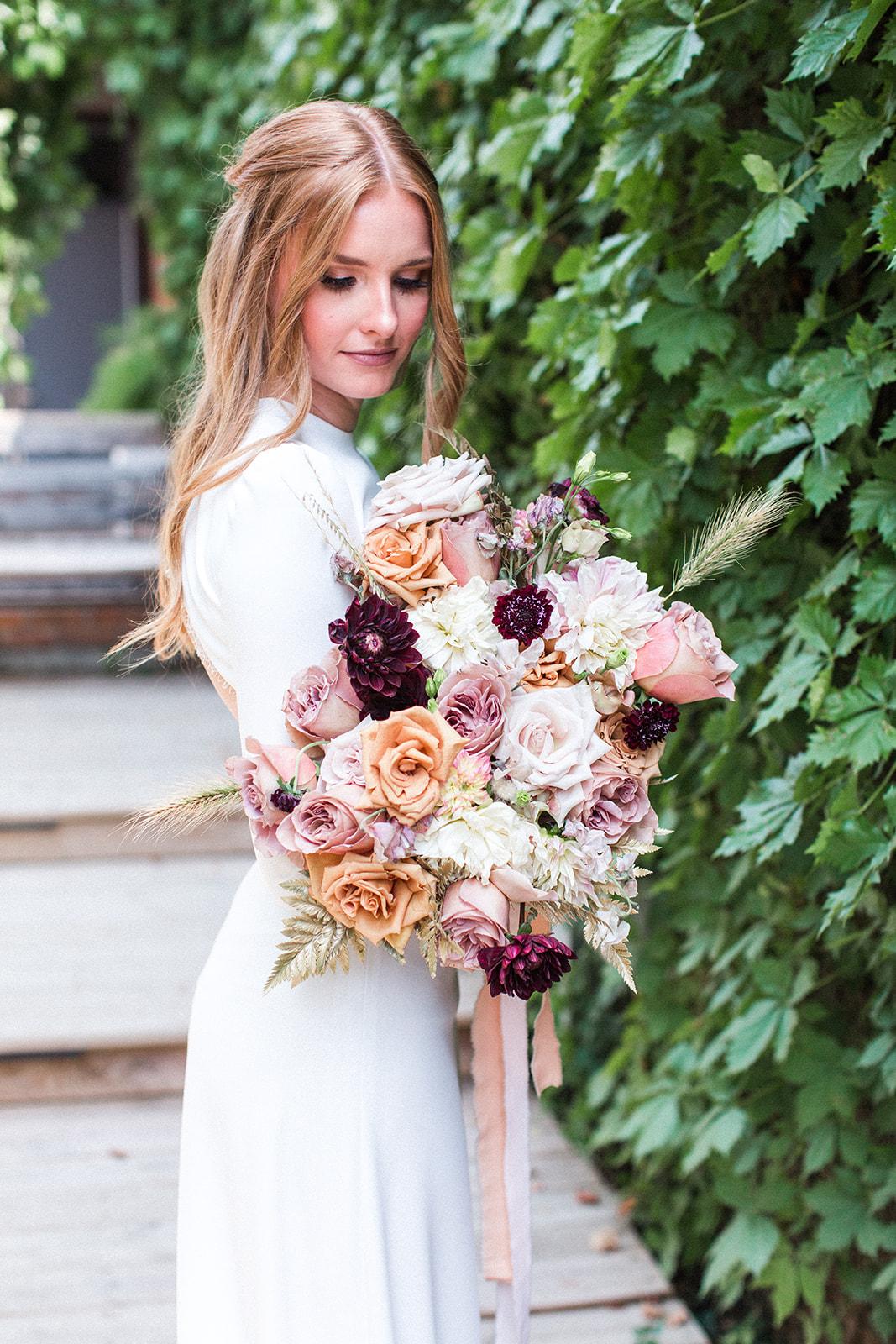 Romantic wedding bouquet: Fall Garden Wedding featured on Alexa Kay Events