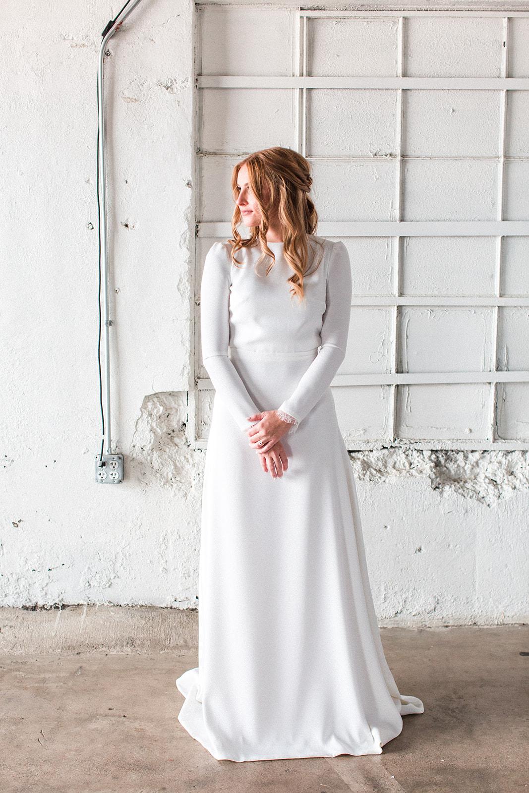 Fall wedding dress: Fall Garden Wedding featured on Alexa Kay Events