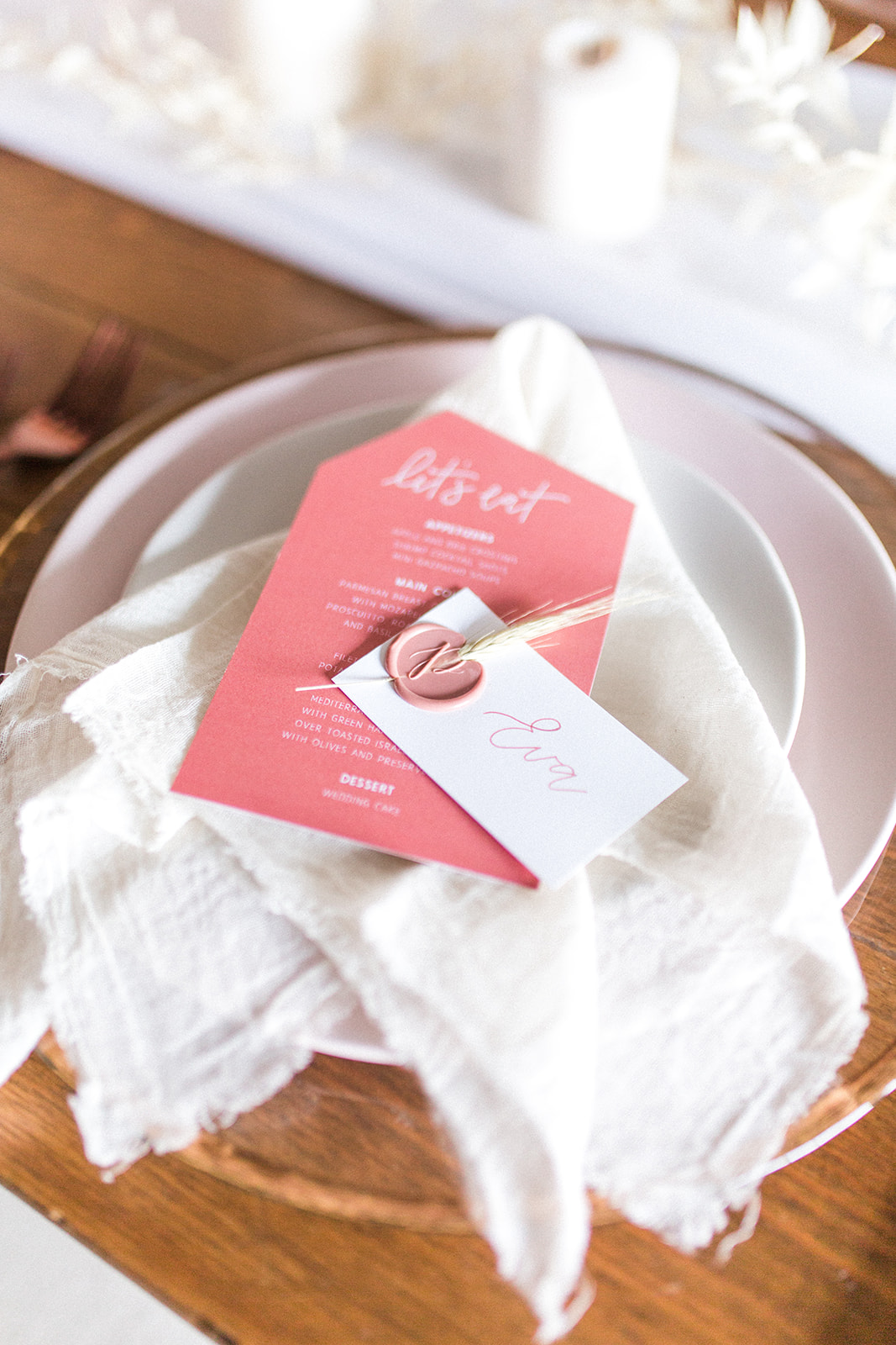Wedding stationery: Fall Garden Wedding featured on Alexa Kay Events