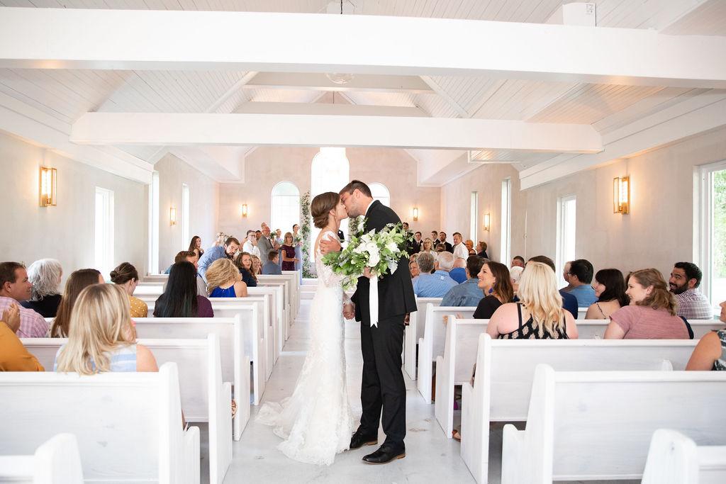 Wedding ceremony decor: Modern Minimalistic Wedding at The Emerson