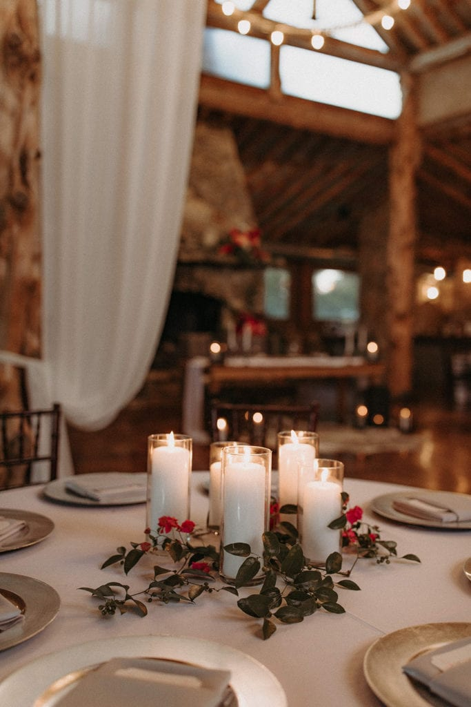 Candle wedding centerpieces: Intimate and Charming Wedding featured on Alexa Kay Events blog