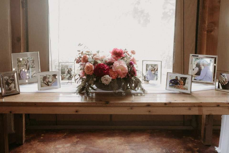 Wedding memorabilia table: Intimate and Charming Wedding featured on Alexa Kay Events blog