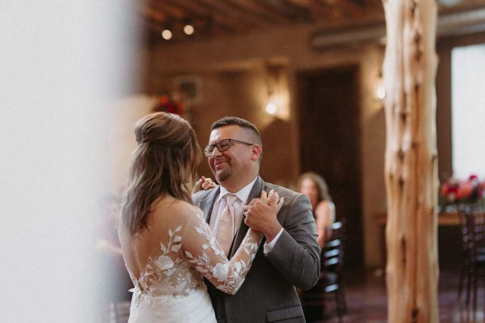 Wedding first dance: Intimate and Charming Wedding featured on Alexa Kay Events blog