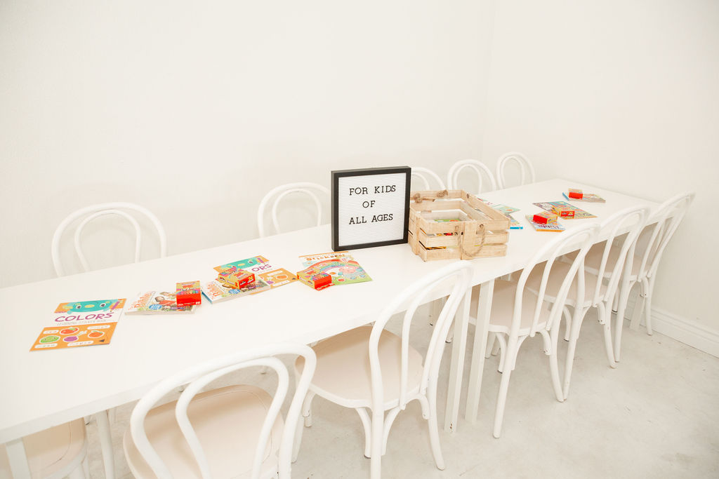 Kids table at Fort Worth Wedding: Modern Minimalistic Wedding at The Emerson