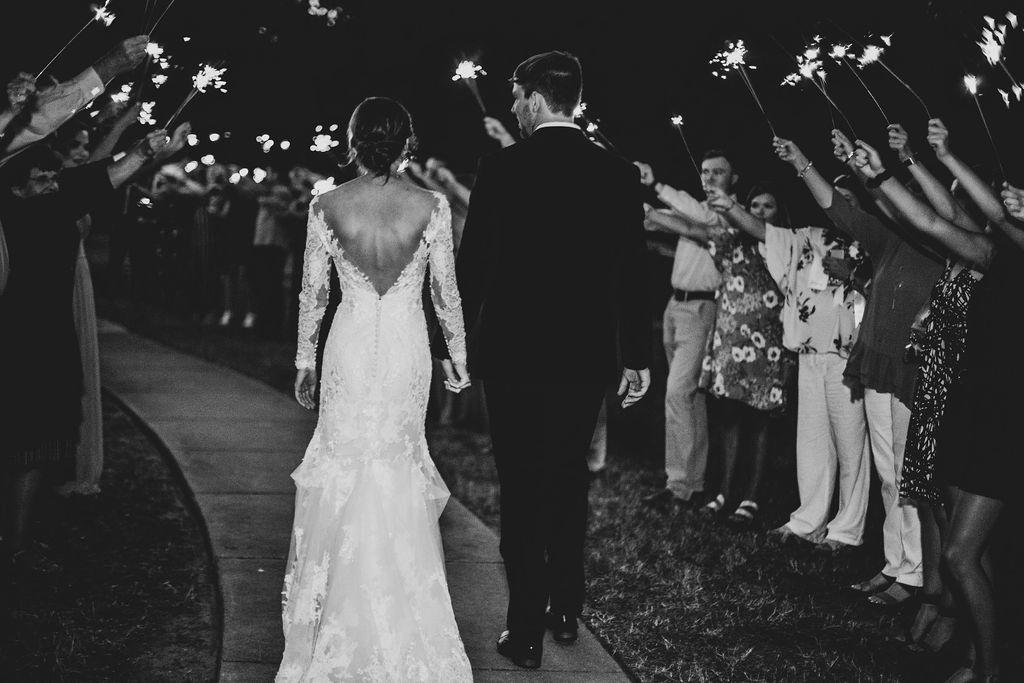 Wedding reception exit: Modern Minimalistic Wedding at The Emerson