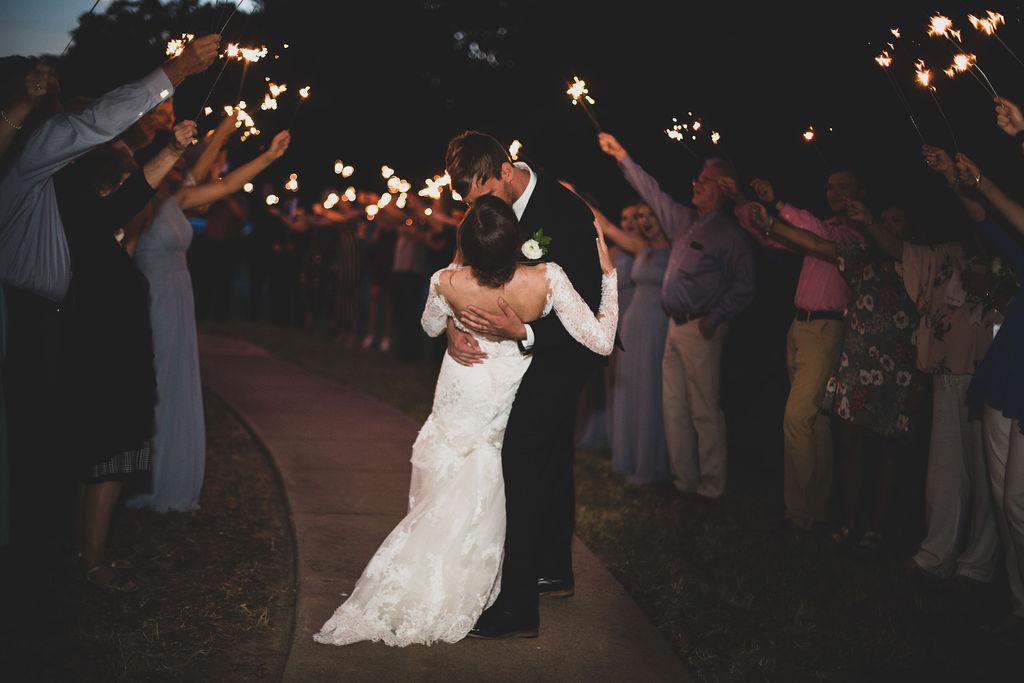 Sparkler wedding exit: Modern Minimalistic Wedding at The Emerson