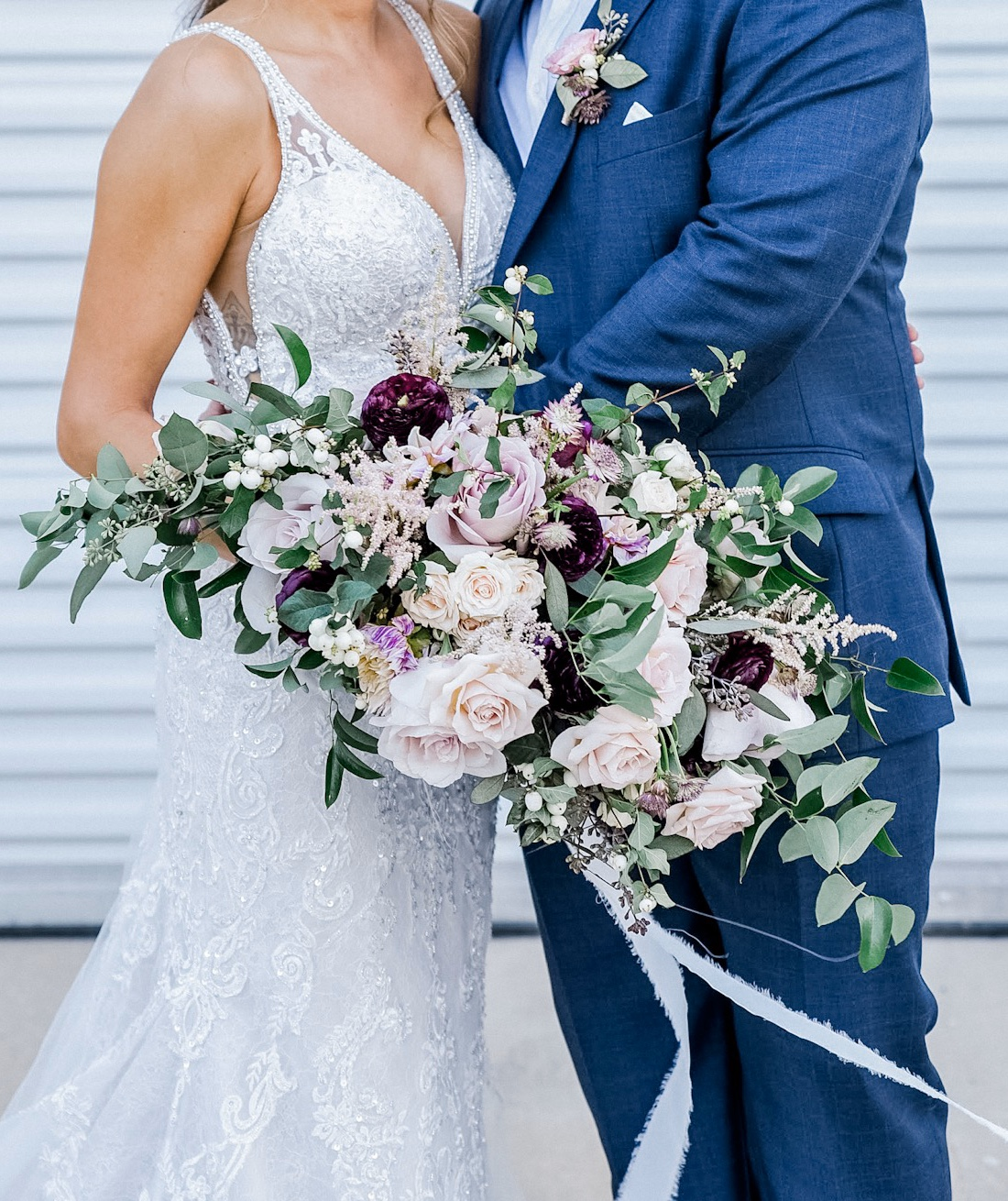 Burgundy and blush wedding bouquet by Alba Dahlia Floral featured on Alexa Kay Events