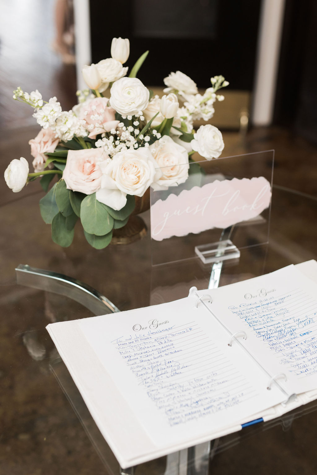 Wedding decor ideas: Dusty Blue and Blush Wedding at The Room on Main featured on Alexa Kay Events!