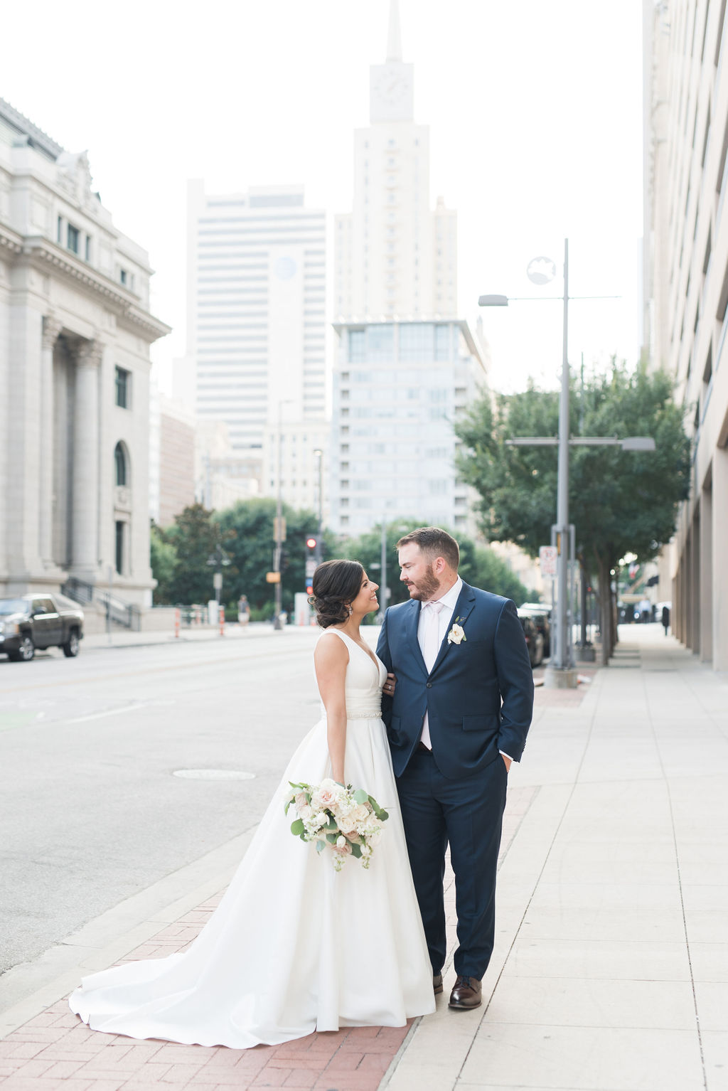 Dallas wedding photographer: Dusty Blue and Blush Wedding at The Room on Main featured on Alexa Kay Events!