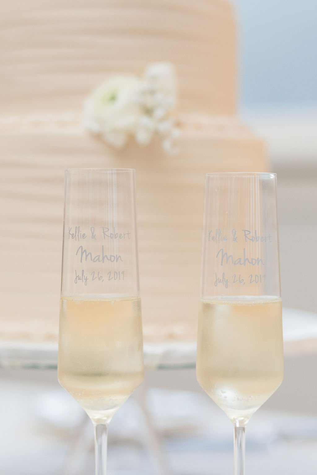 Dusty Blue and Blush Wedding at The Room on Main featured on Alexa Kay Events!