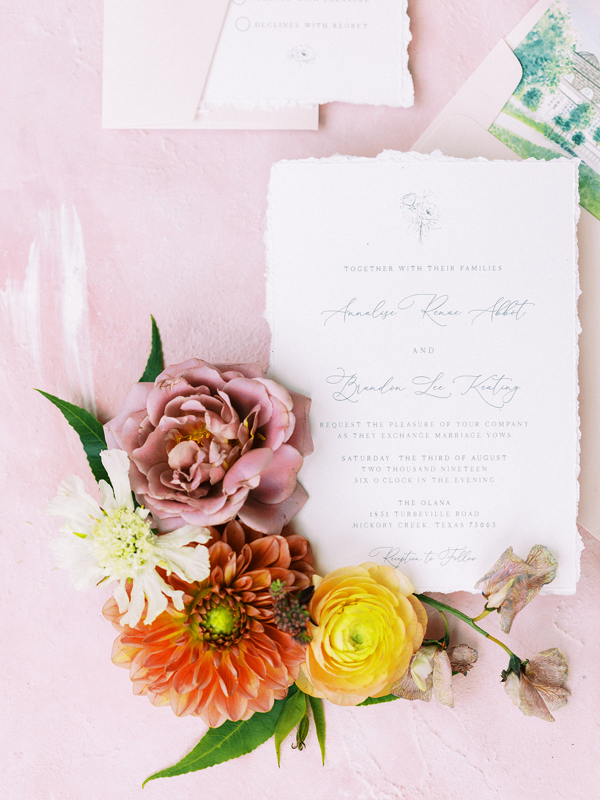 Wedding invitation design: Whimsical garden elegance styled shoot featured on Alexa Kay Events