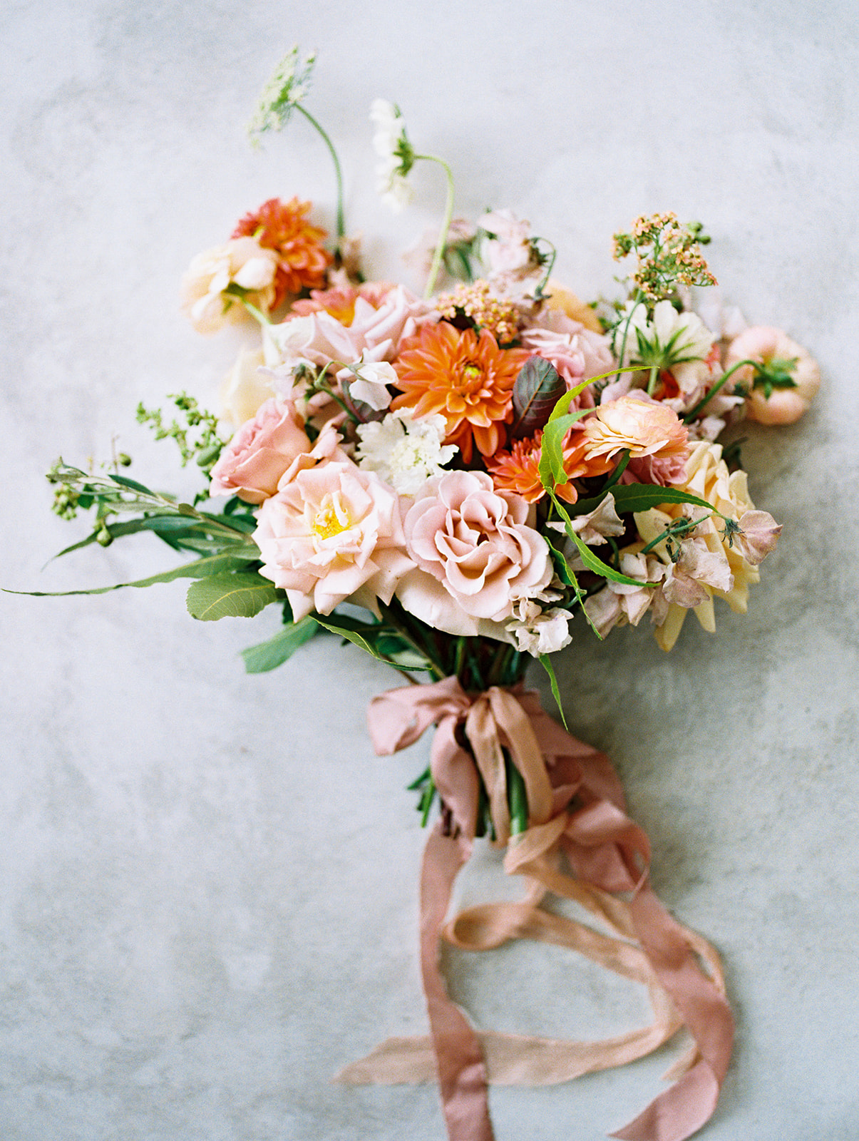 Bright wedding bouquet: Whimsical garden elegance styled shoot featured on Alexa Kay Events
