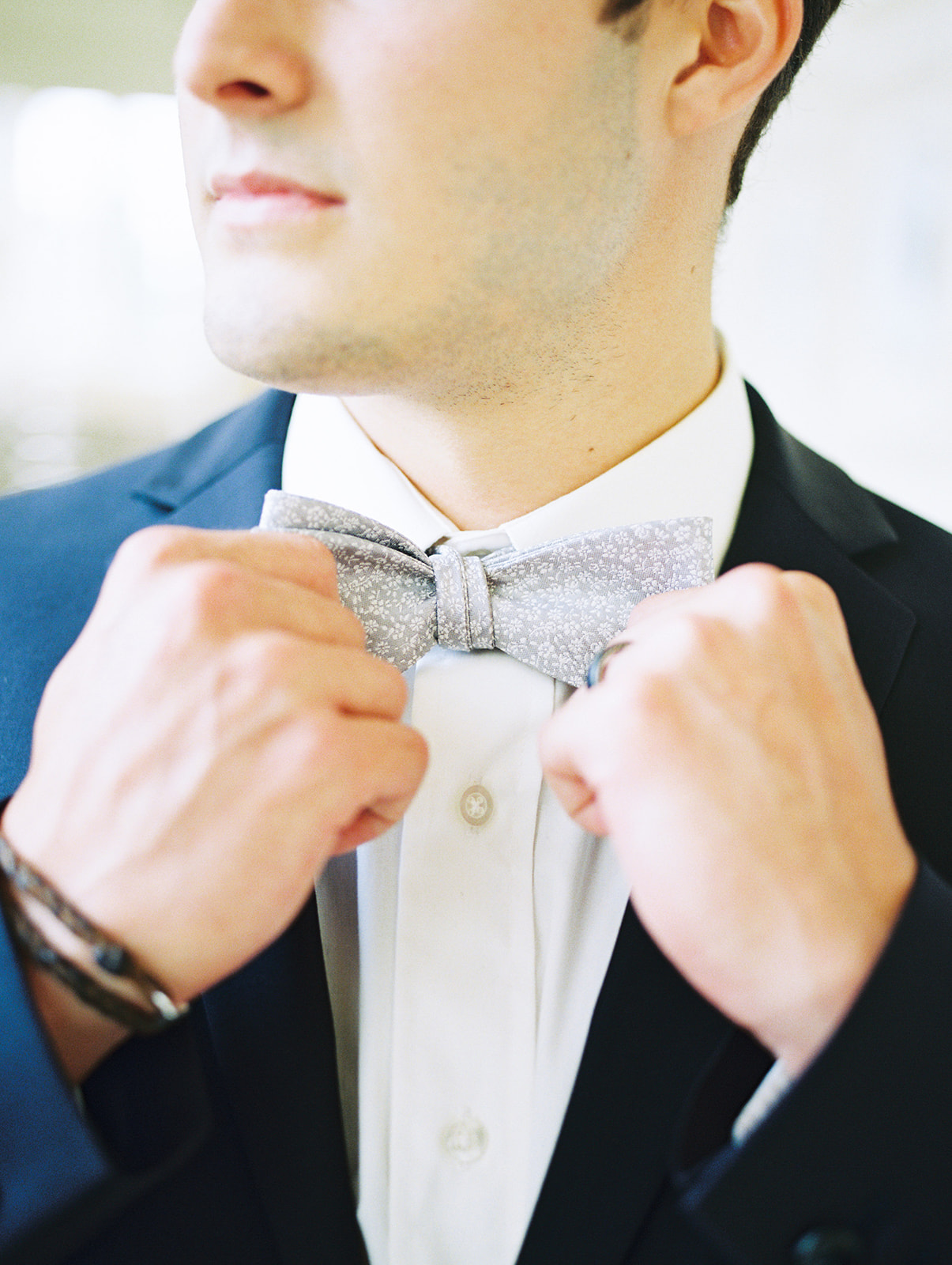 Groom's bowtie: Whimsical garden elegance styled shoot featured on Alexa Kay Events