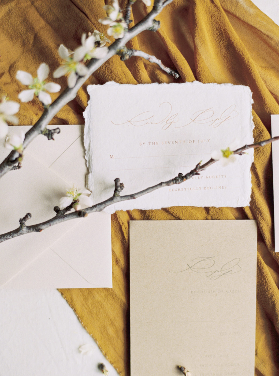 Taupe and ivory wedding stationery design for Alexa Kay Events Editorial