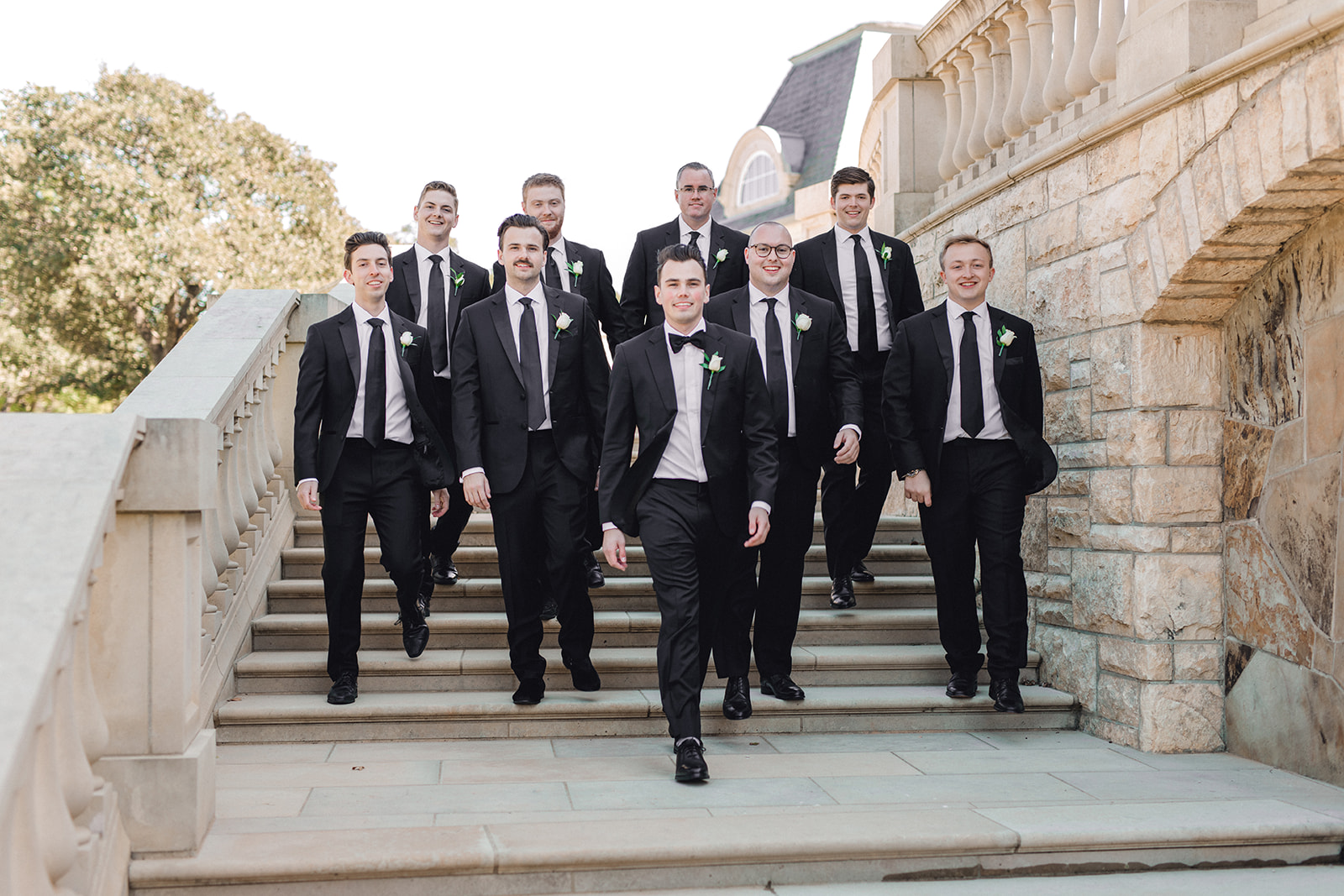 The Black Tux Tuxedo: Timeless Wedding at The Olana featured on Alexa Kay Events!