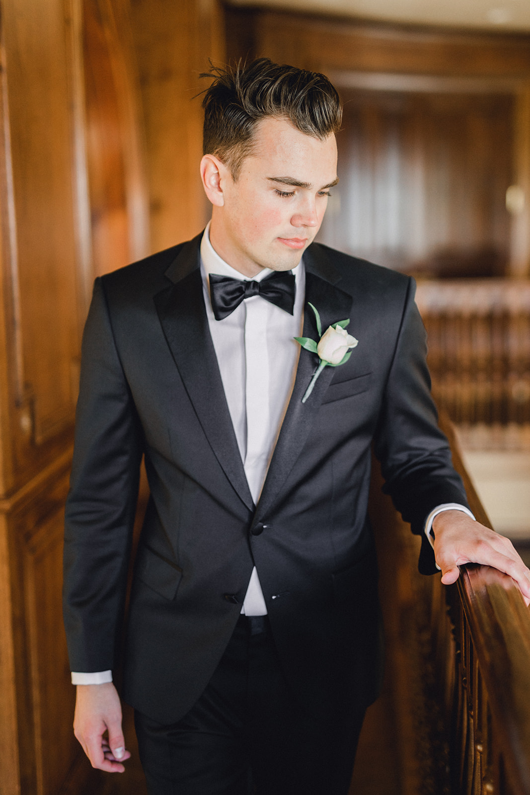 Grooms portrait: Timeless Wedding at The Olana featured on Alexa Kay Events!