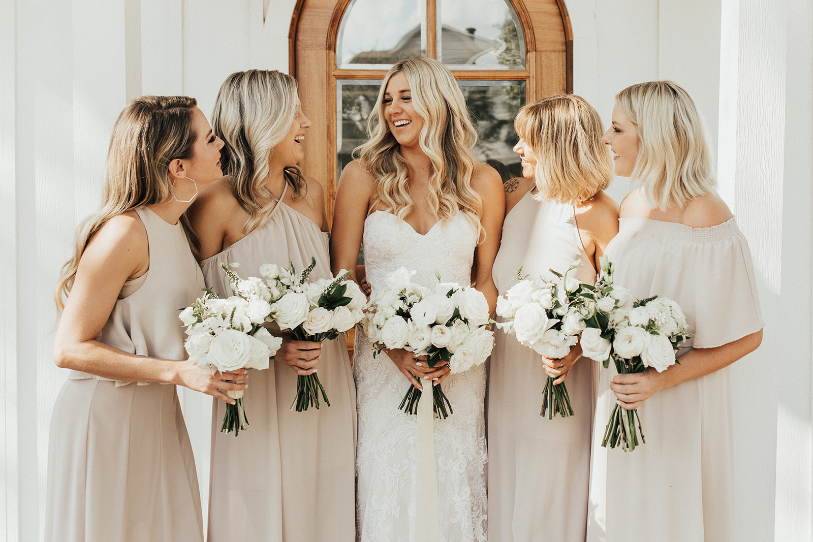 Show Me Your Mumu Taupe Bridesmaid Dresses