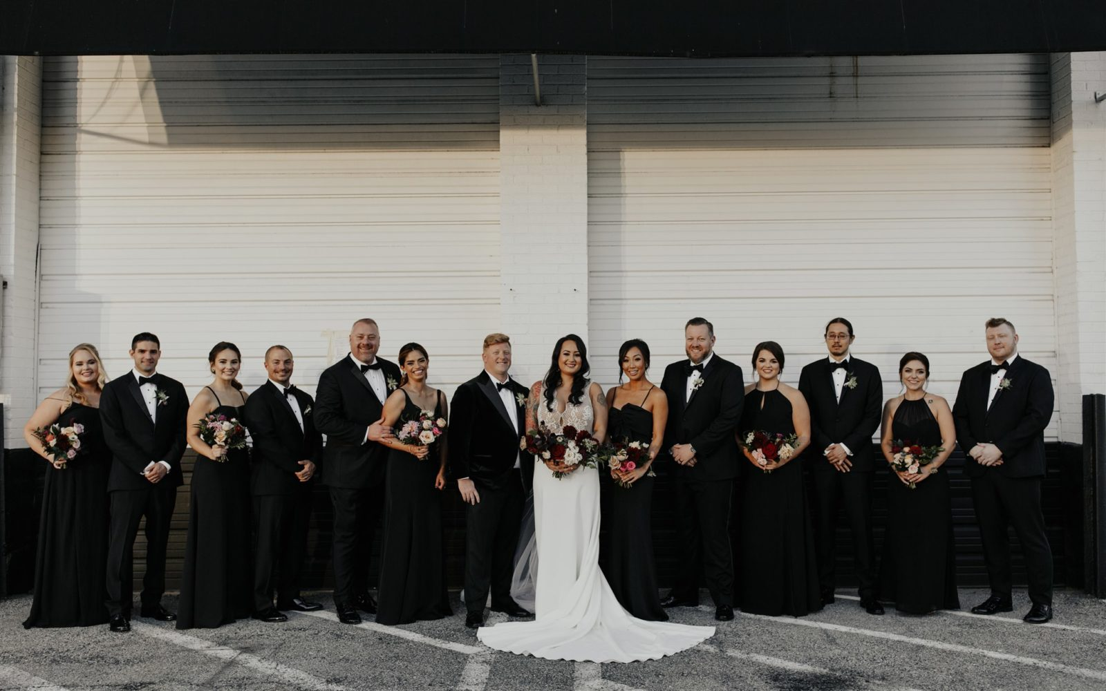 Bold Bridal Party Colors for DFW Wedding on Alexa Kay Events