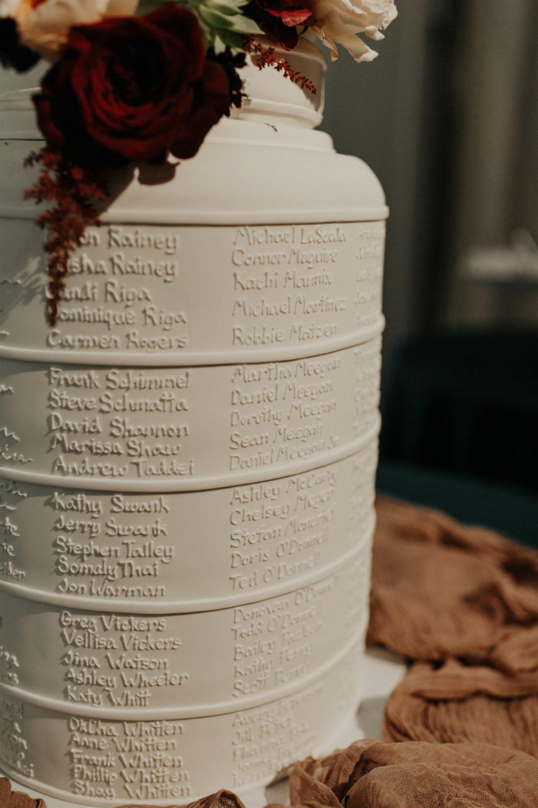 Modern Wedding Decor for DFW Wedding on Alexa Kay Events