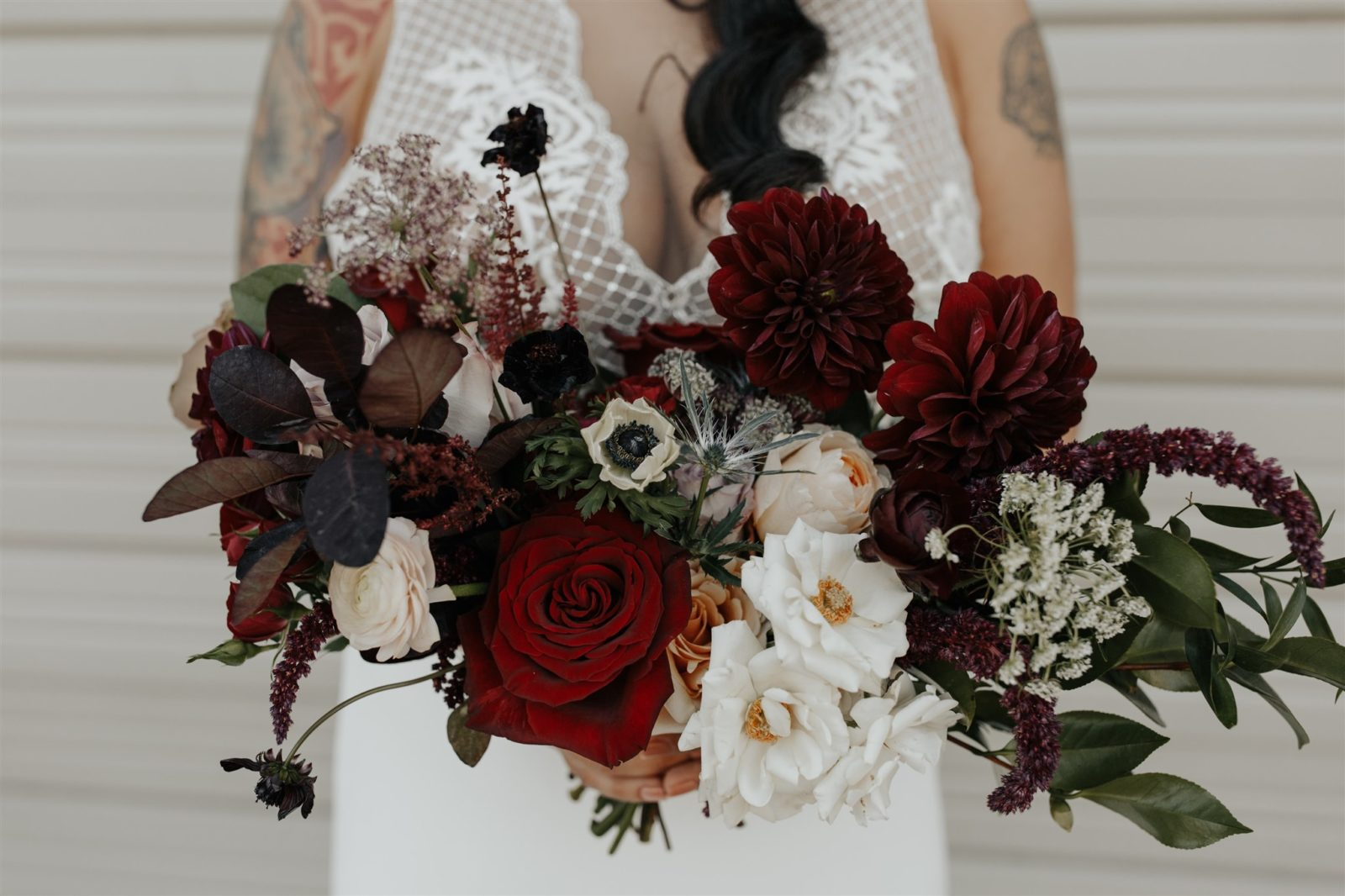 Bold Wedding Bouquet Design by Root & Bloom on Alexa Kay Events