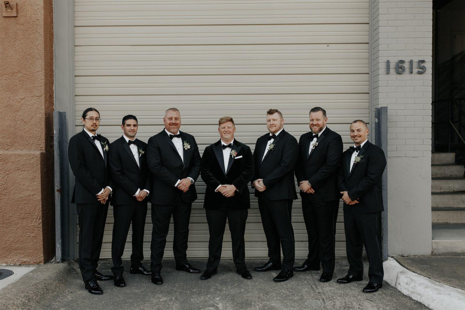 The Black Tux Groomsmen Tuxedos for DFW Wedding on Alexa Kay Events
