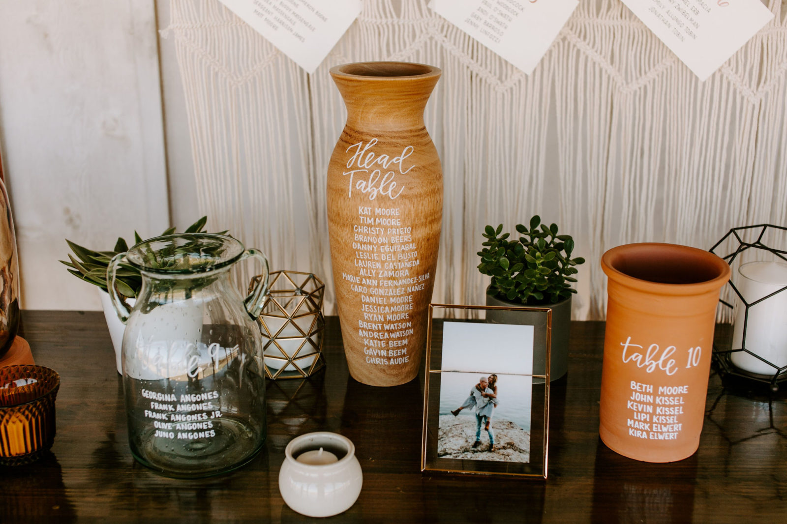 Ceramic Wedding Table Numbers: Bohemian Big White Barn Wedding