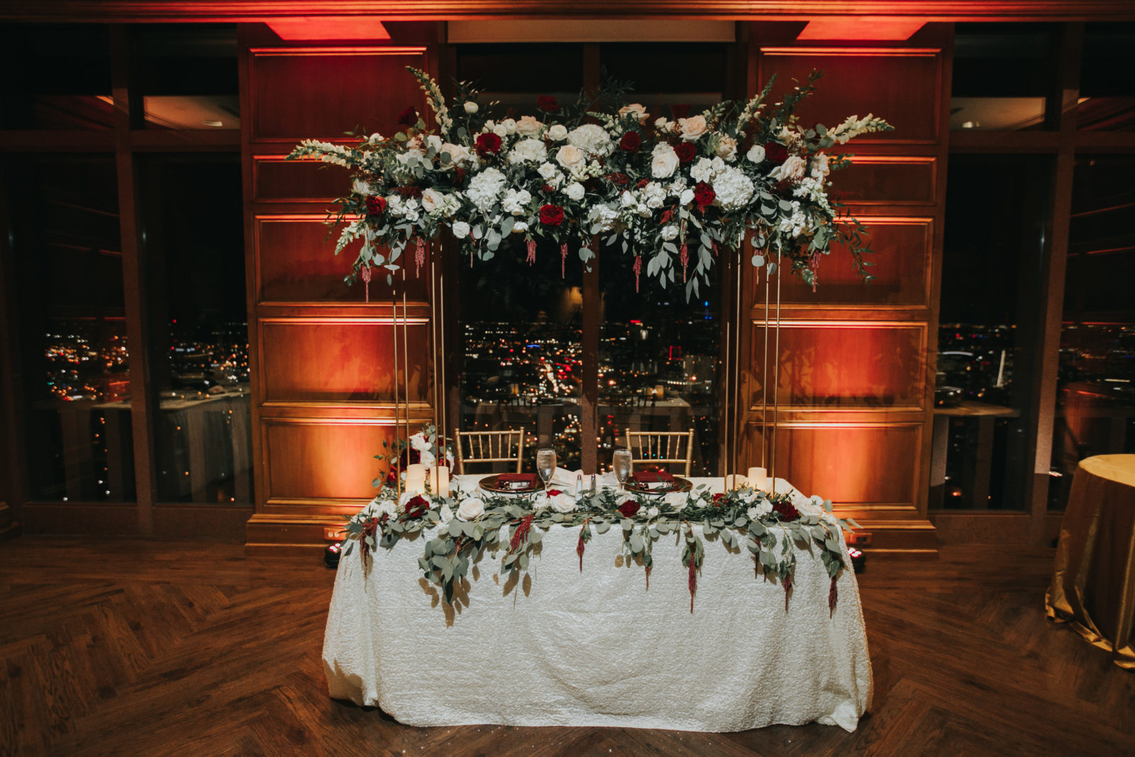 Wedding Sweetheart Table: Exquisite City Place Events Wedding featured on Alexa Kay Events