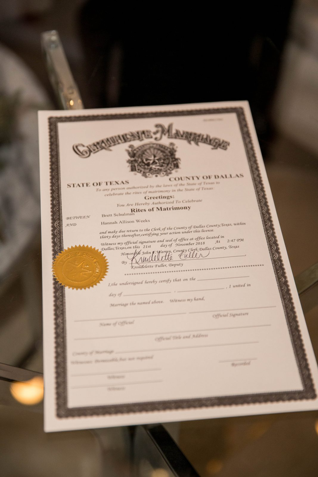 Tips for getting your wedding marriage license in Texas featured on Alexa Kay Events
