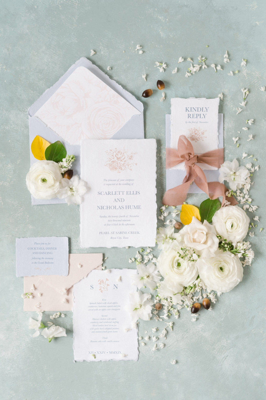 Sincerely Addison Raw Edged Wedding Stationery