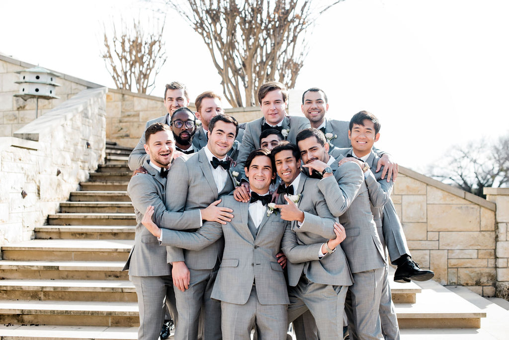 Gray Grooms & Groomsman Attire: Dreamy Pink and Gray Wedding at The Olana