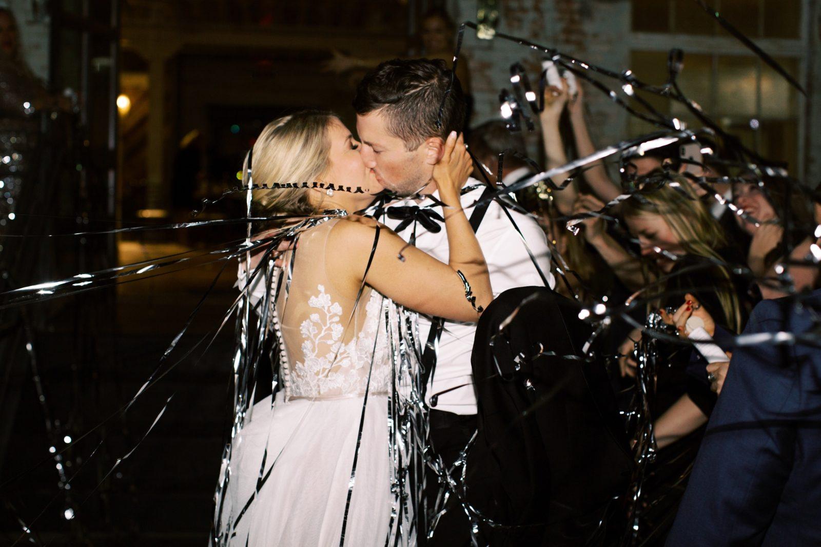 Sophisticated New Years Eve Brik Venue Wedding