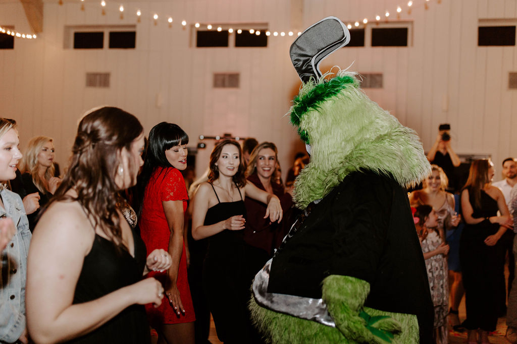Dallas Stars Mascot at Simply Stylish Grand Ivory Wedding featured on Alexa Kay Events