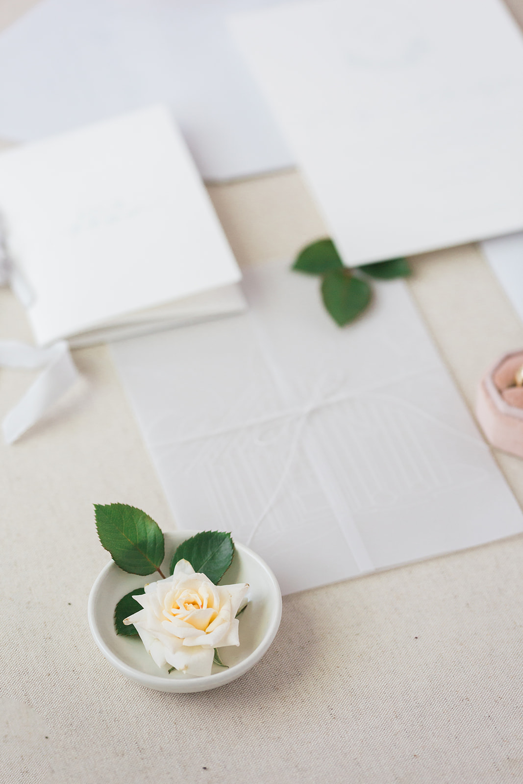 Wedding stationery design: Pink Floral Wedding Inspiration at The Lumen Room featured on Alexa Kay Events