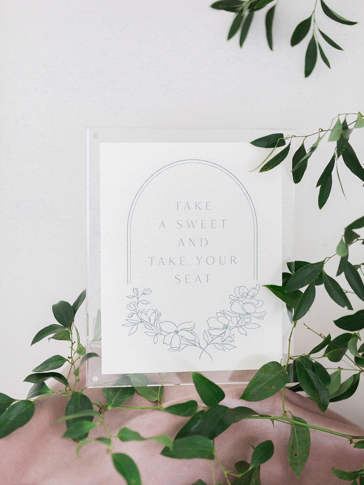Minimalistic wedding stationery: Pink Floral Wedding Inspiration at The Lumen Room featured on Alexa Kay Events