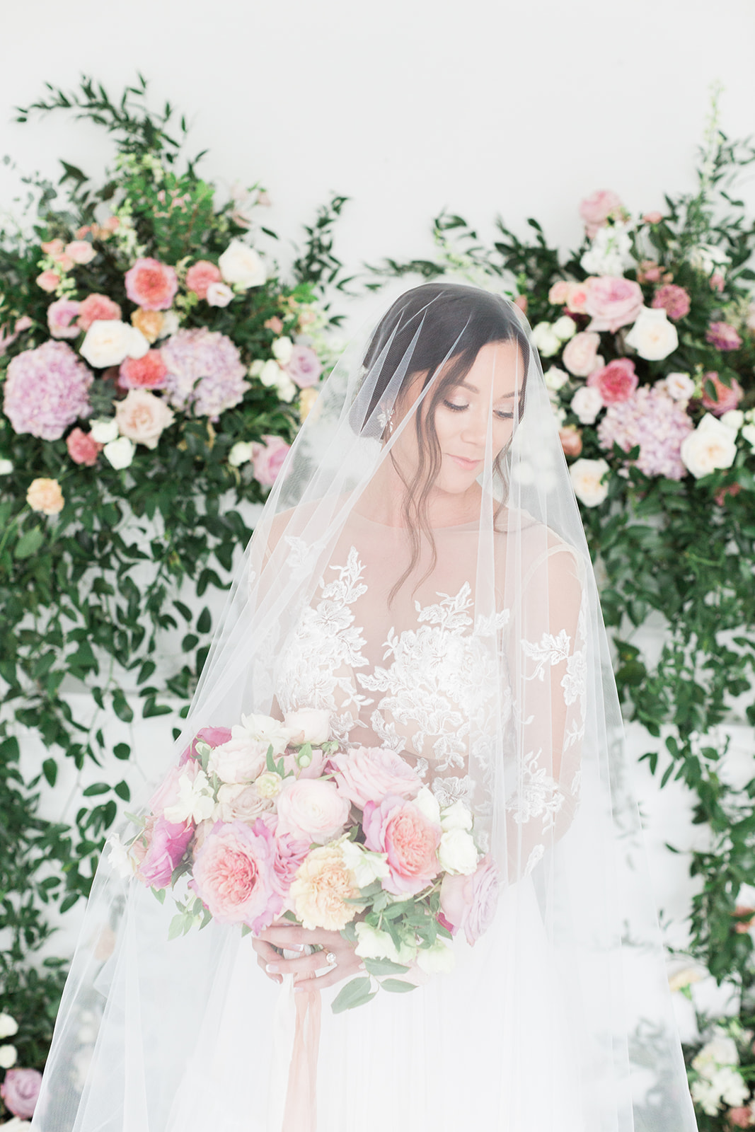 Sami Kathryn bridal portrait: Pink Floral Wedding Inspiration at The Lumen Room featured on Alexa Kay Events