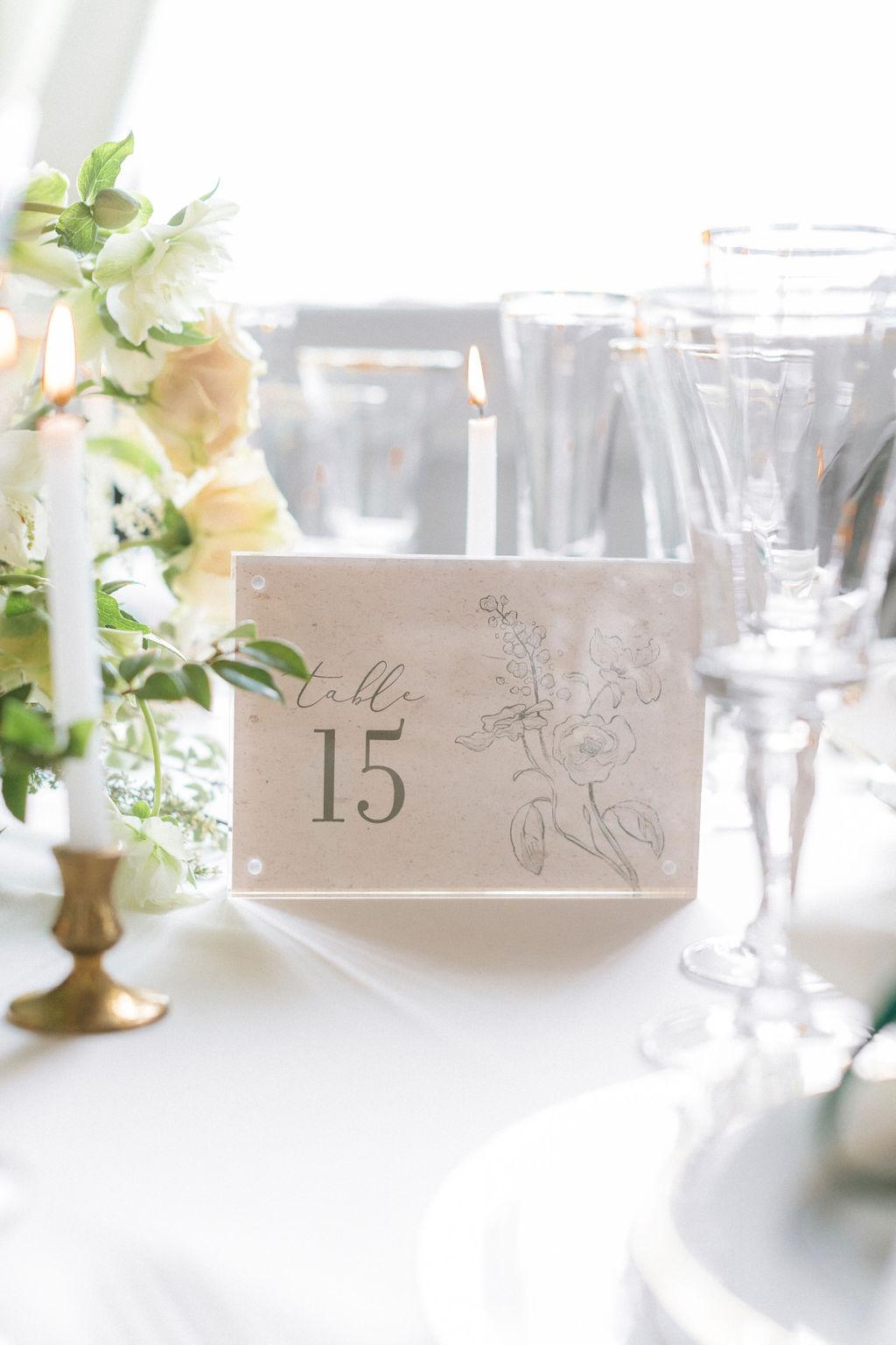 Elegant wedding table numbers: Elegant Dallas Wedding Inspiration at The Mason featured on Alexa Kay Events