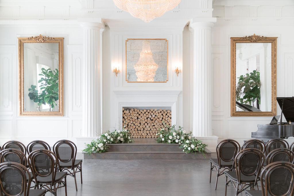 Wedding ceremony decor: Elegant Dallas Wedding Inspiration at The Mason featured on Alexa Kay Events