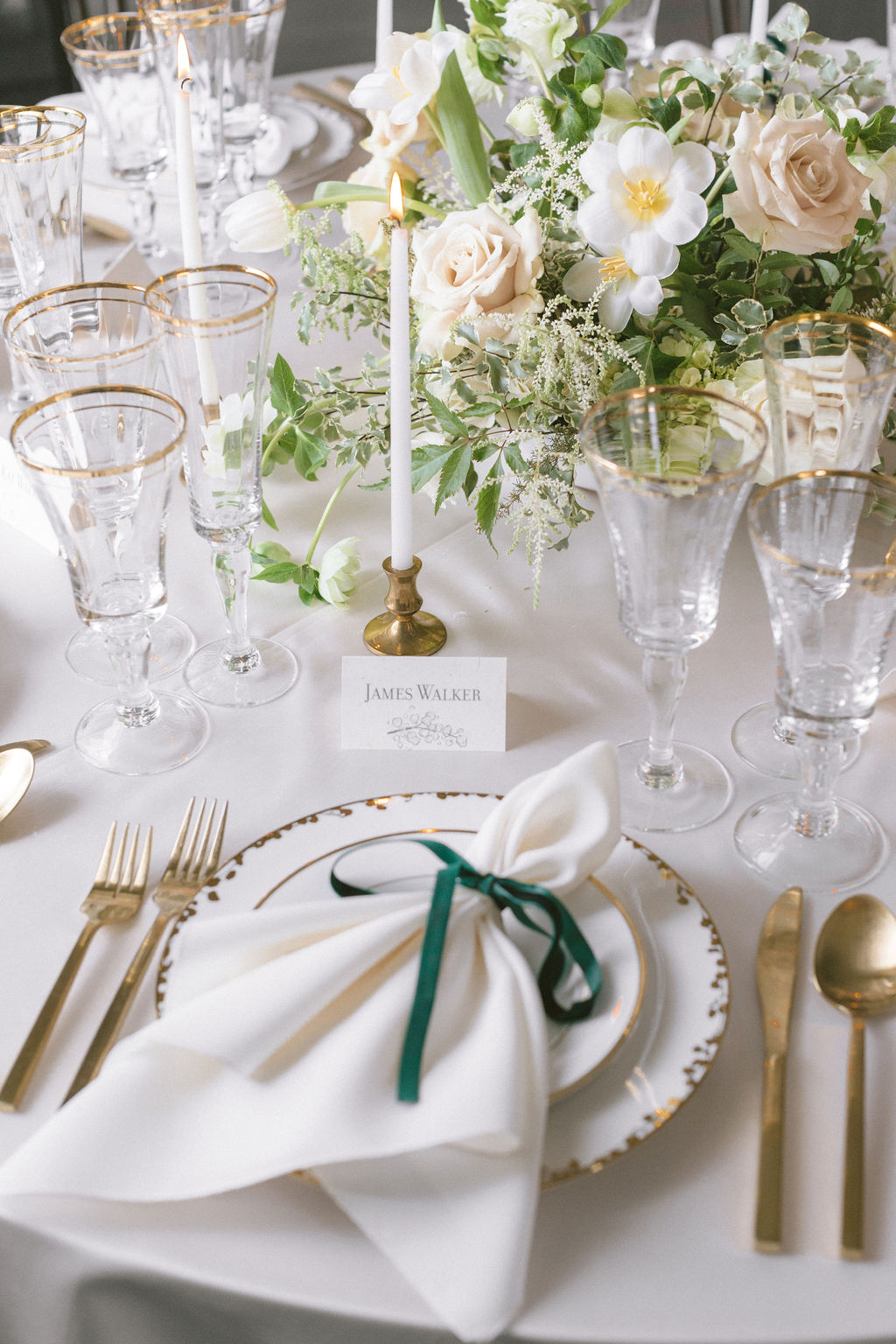 Wedding table setting: Elegant Dallas Wedding Inspiration at The Mason featured on Alexa Kay Events