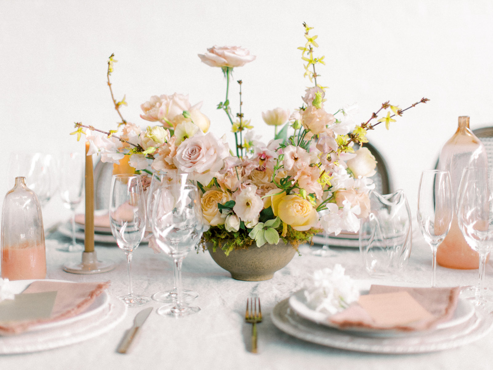 Whimsical wedding table decor: Whimsical Wedding Inspiration at The Place at Tyler from The Bridal Masterclass featured on Alexa Kay Events