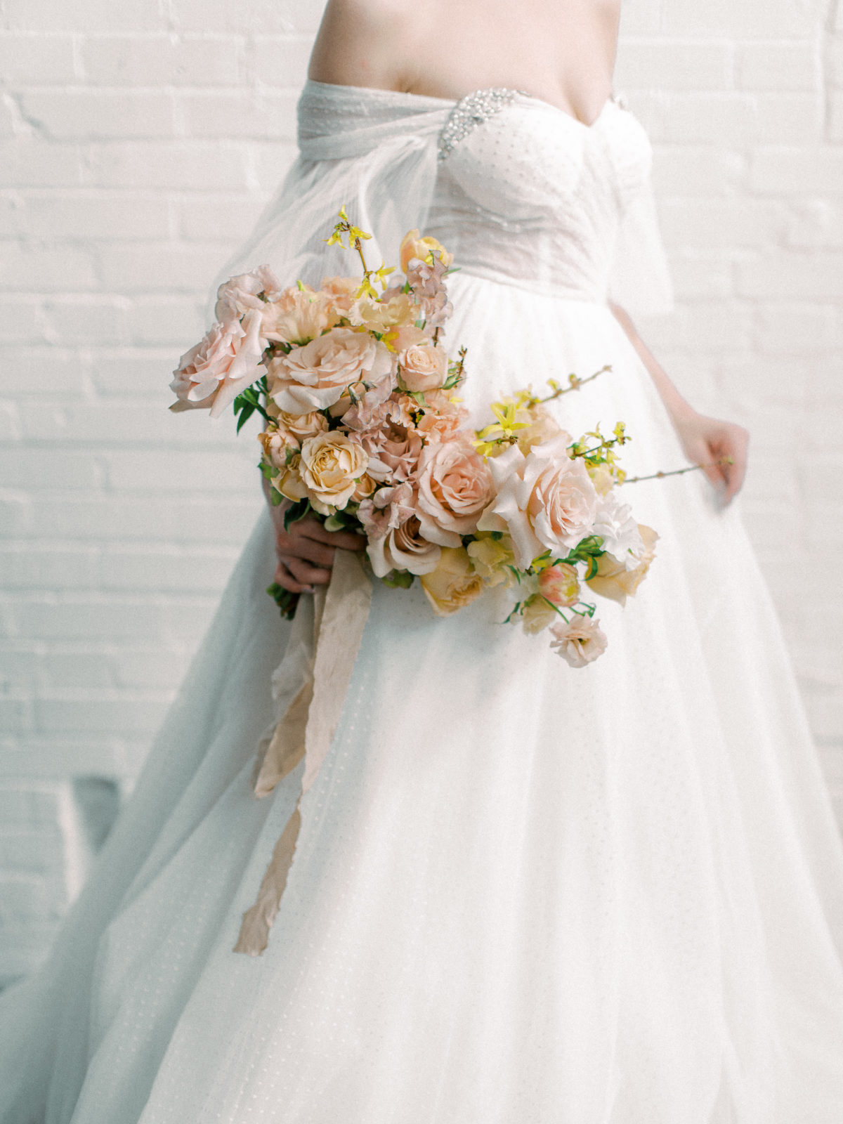 Whimsical wedding bouquet: Whimsical Wedding Inspiration at The Place at Tyler from The Bridal Masterclass featured on Alexa Kay Events