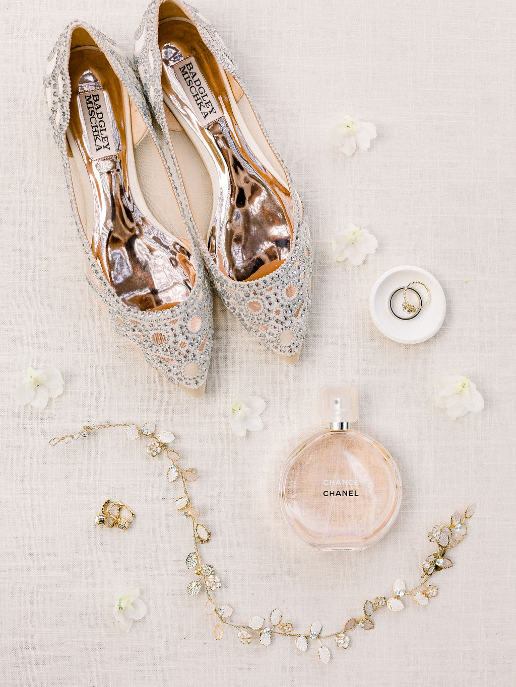 Embellished wedding shoes: Ethereal Wedding Inspiration at The White Sparrow
